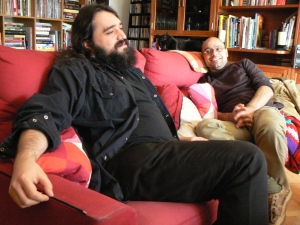 Carlos Molinero y Hernán Migoya, trabajando.