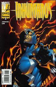 """Portada de la edición española de un número de una de las series más populares de Jenkins, """"Inhumanos""""."""