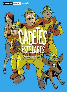 La portada que dibujó Javier Rodríguez para el guión de Cadetes Estelares.