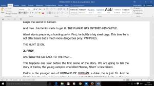 El argumento que escribo en inglés.