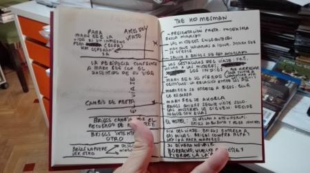 """El esquema de """"The Homesman"""" que escribí después de verla. """"The Homesman"""" es una película dirigida por Tommy Lee Jones con guión del propio Jones, Kieran Fitzgerald, y Wesley A. Oliver a partir de la novela homónima de Glendon Swarthout. Es algo que hago de vez en cuando si veo una película que me gusta especialmente y tiene una estructura inusual. Es mi manera de entenderla, de hacerla """"mía""""."""