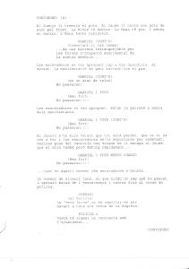 Página del guión del capítulo 5.